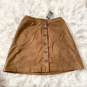* abercrombie suede skirt *
